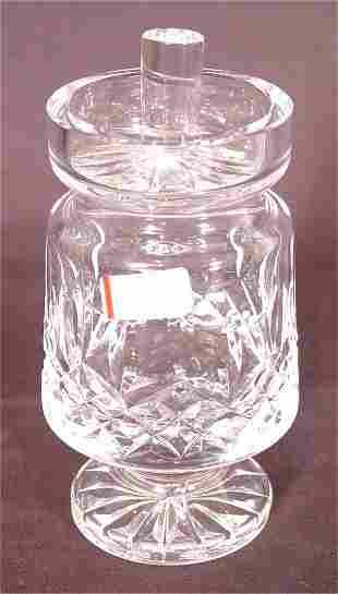 "WATERFORD CRYSTAL JAM & JELLY JAR 5 1/2""H"