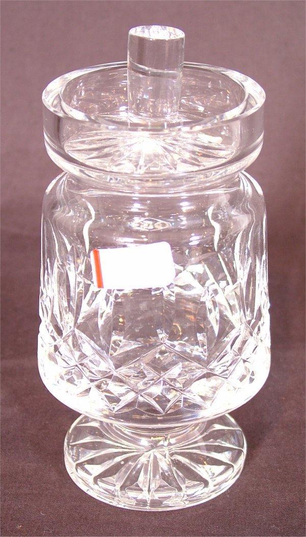 "3107: WATERFORD CRYSTAL JAM & JELLY JAR 5 1/2""H"
