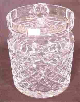 """WATERFORD CRYSTAL BISCUIT JAR 7""""H"""