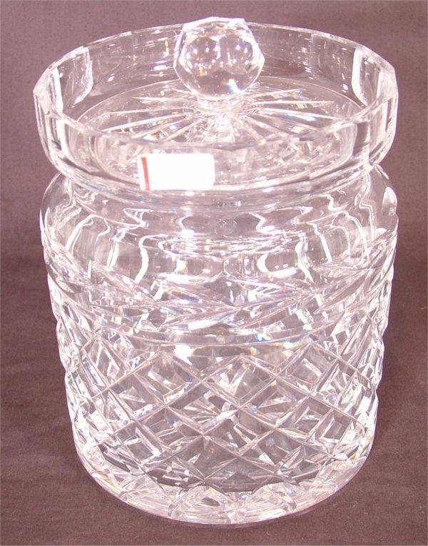 """3113: WATERFORD  CRYSTAL BISCUIT JAR 7""""H"""