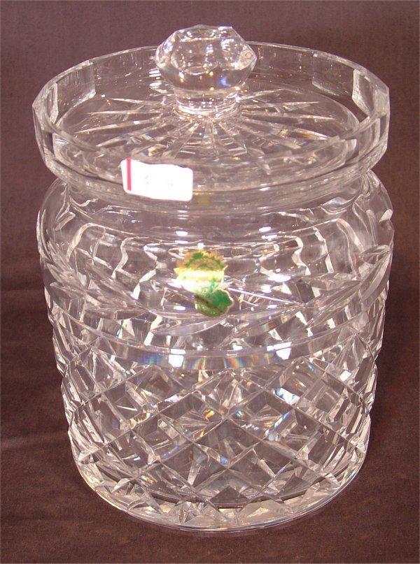 """3114: WATERFORD CRYSTAL BISCUIT JAR 7""""H"""