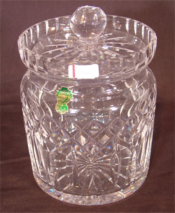"""3115: WATERFORD CRYSTAL BISCUIT JAR 7""""H"""