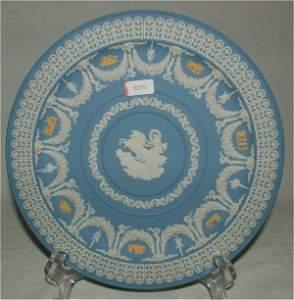 3359: WEDGWOOD PALE BLUE & WHITE JASPER TROPHY PLATE 8