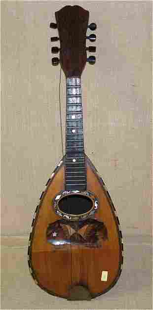 """8 STRING LUTE W/M.O.P. INLAY 24""""L, NEEDS RESTRUNG"""