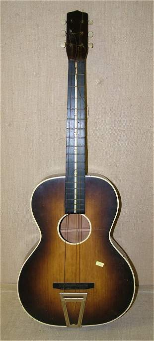 """6 STRING GUITAR IN CASE 36 1/2""""L, NEED SOME STRIN"""