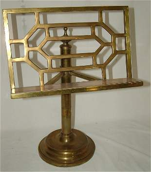 """BRASS TABLE EASEL OR BOOK STAND 22""""H"""