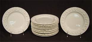 """WEDGWOOD CHINA QUEENSWARE IVORY 8 1/4"""" PLATES (12"""