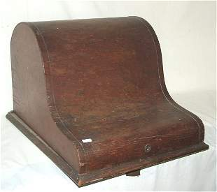 EARLY CALIGRAPH WRITING MACHINE IN WOODEN CASE