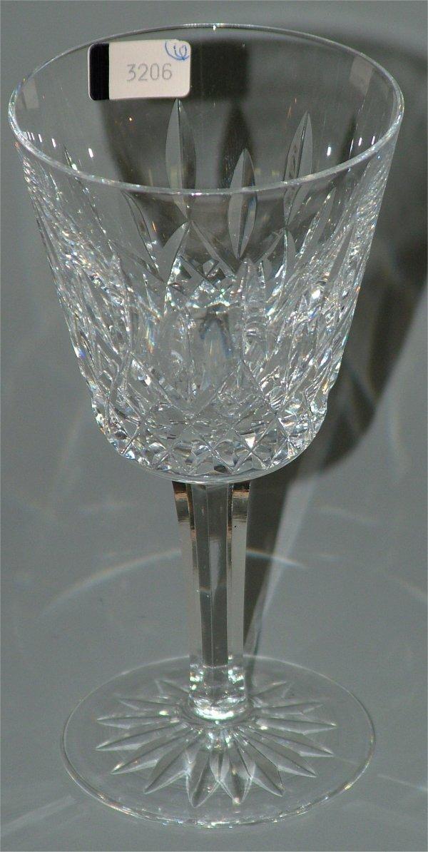 """3206: (6) WATERFORD CRYSTAL WINES 6""""H"""