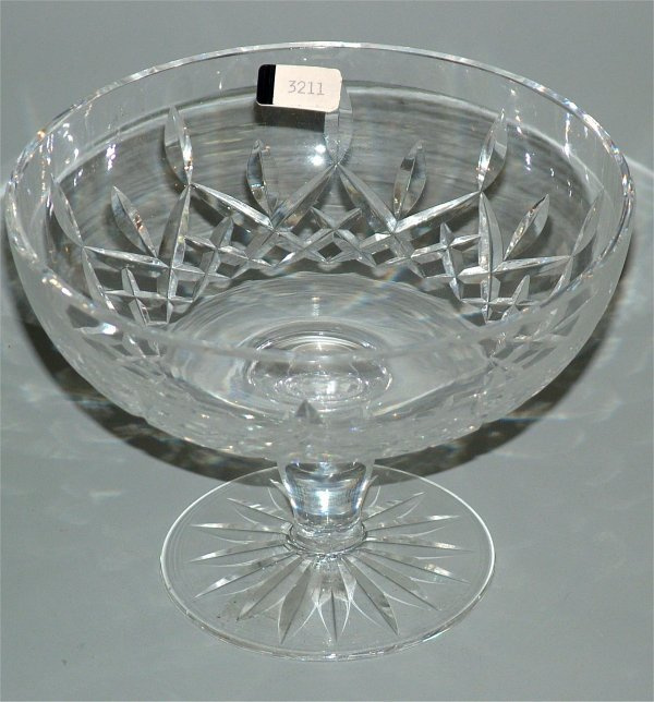 """3211: WATERFORD CRYSTAL COMPOTE 5""""H"""