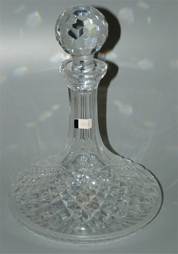 """3212: WATERFORD CRYSTAL SHIPS DECANTER 10""""H"""