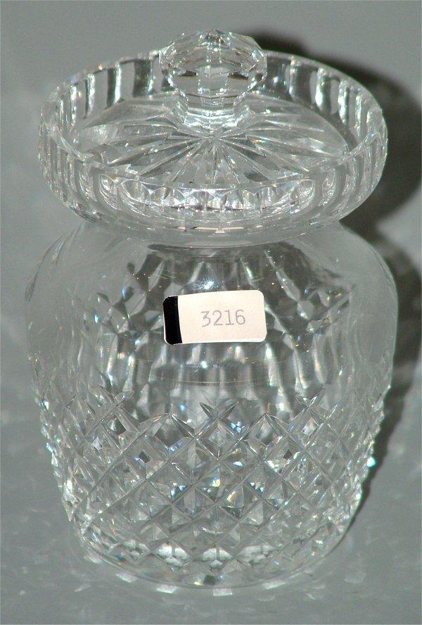 "3216: WATERFORD CRYSTAL CONDIMENT JAR 5""H"