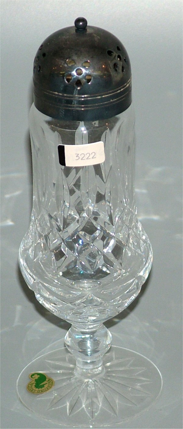 "3222: WATERFORD CRYSTAL MUFFINEER 8""H"