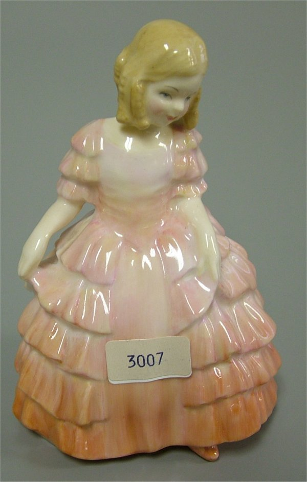 "3007: ROYAL DOULTON FIGURINE, ROSE HN 1368 4 1/2"""
