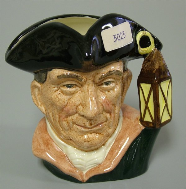 """3023: ROYAL DOULTON SMALL TOBY, NIGHT WATCHMAN D6576 4"""""""