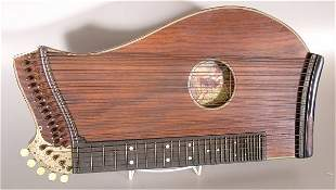 """ZITHER W/IVORY FEET 23""""L"""