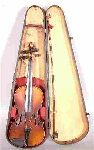 """ROOT ARTIST VIOLIN W/BOW & WOODEN CASE 24""""L"""