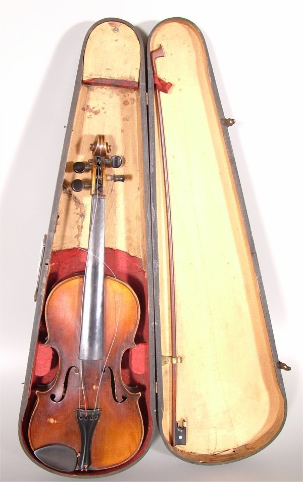 """7005: ROOT ARTIST VIOLIN W/BOW & WOODEN CASE 24""""L"""