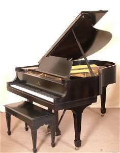 """7334: STEINWAY & SONS EBONY 5' 6 1/2"""" BABY GRAND PIANO"""