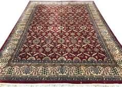 ORIENTAL RUG FINE INDO PERSIAN TABRIZ 91 X 12