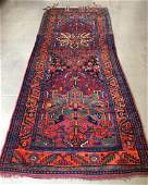 ORIENTAL RUG SEMI ANTIQUE PERSIAN KURDISH 4 X 109