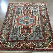 ORIENTAL RUG SEMI ANTIQUE TURKISH CAUCASIAN, 5' X 6'7""