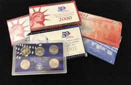 MIXED LOT INCLUDING (2) 2000 U.S. MINT SILVER PROOF