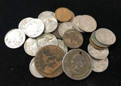 MIXED LOT INCLUDING 17 BUFFALO AND JEFFERSON NICKELS 6