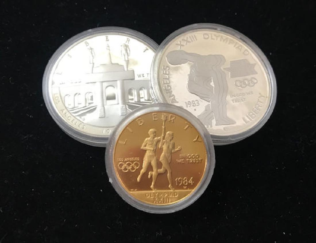 1983 U.S. OLYMPIC COMMEMORATIVE PROOF SET INCLUDING $10
