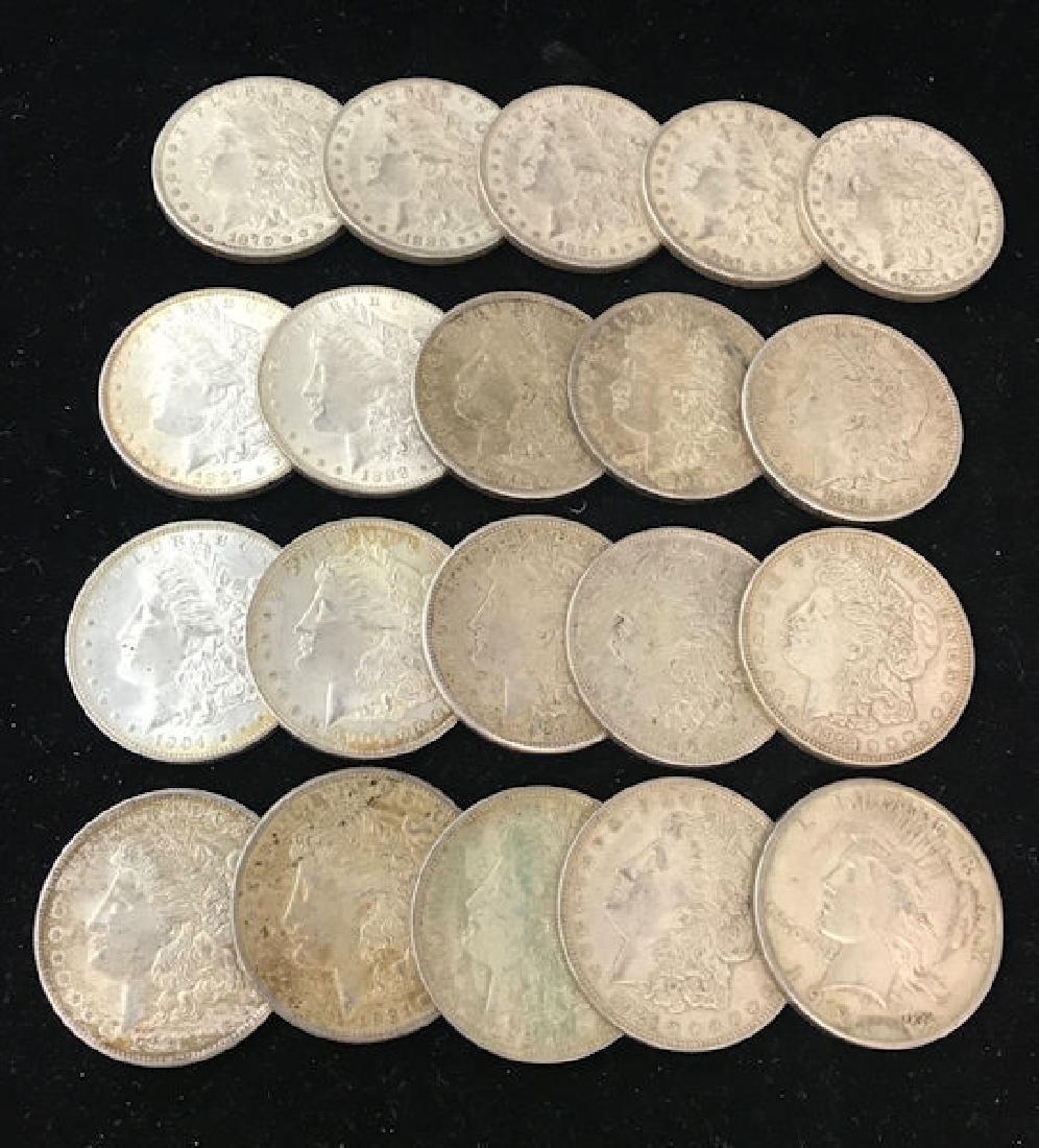 20 U.S. SILVER DOLLARS INCLUDING 1879O, (4) 1880O,