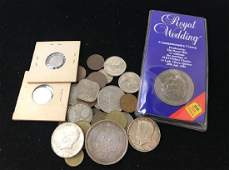 MIXED LOT INCLUDING 2 1964 KENNEDY HALF DOLLARS 2