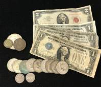MIXED LOT INCLUDING SERIES 1963 TWO DOLLAR RED SEAL