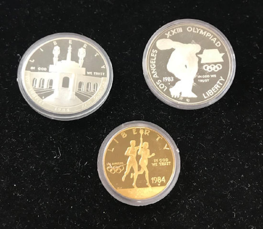 1983 U.S. OLYMPIC COMMEMORATIVE PROOF SET INCLUDING $10