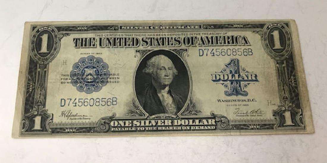 SERIES 1923 U.S. ONE DOLLAR SILVER CERTIFICATE