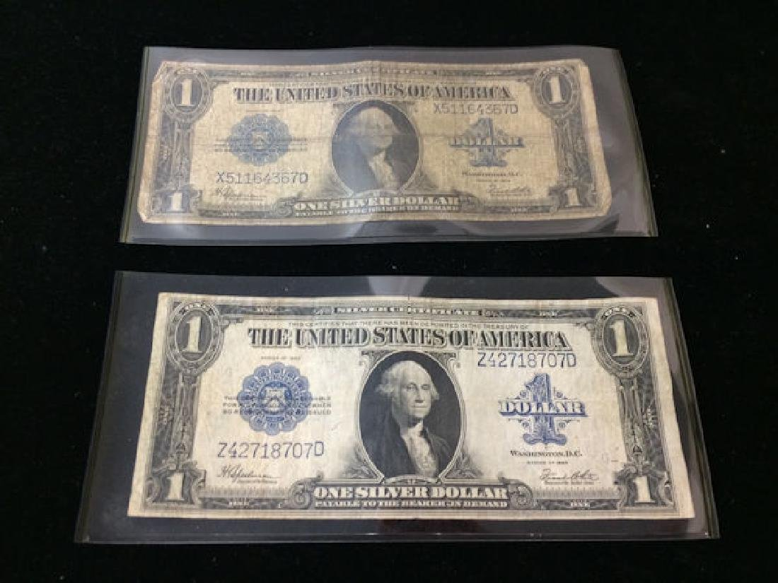 2 SERIES 1923 ONE DOLLAR SILVER CERTIFICATES