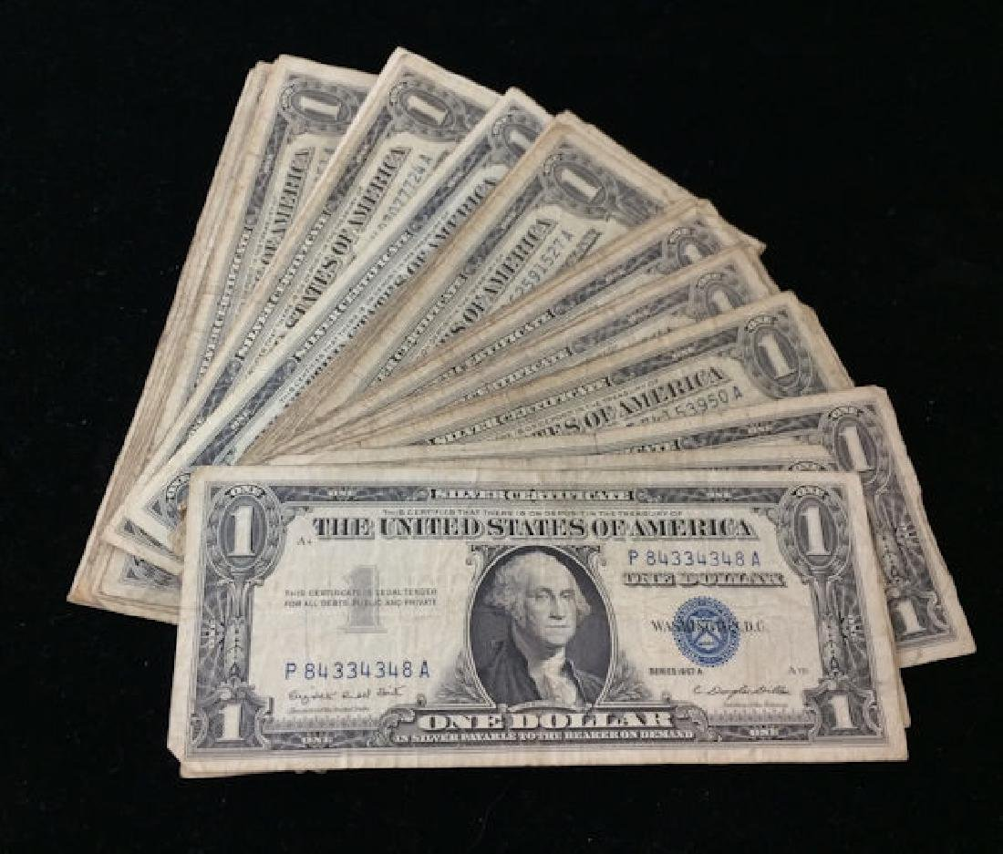 41 SERIES 1957 ONE DOLLAR SILVER CERTIFICATES