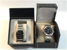 TWO BULOVA WRIST WATCHES ~ NEW OLD STOCK. SILVER TONE