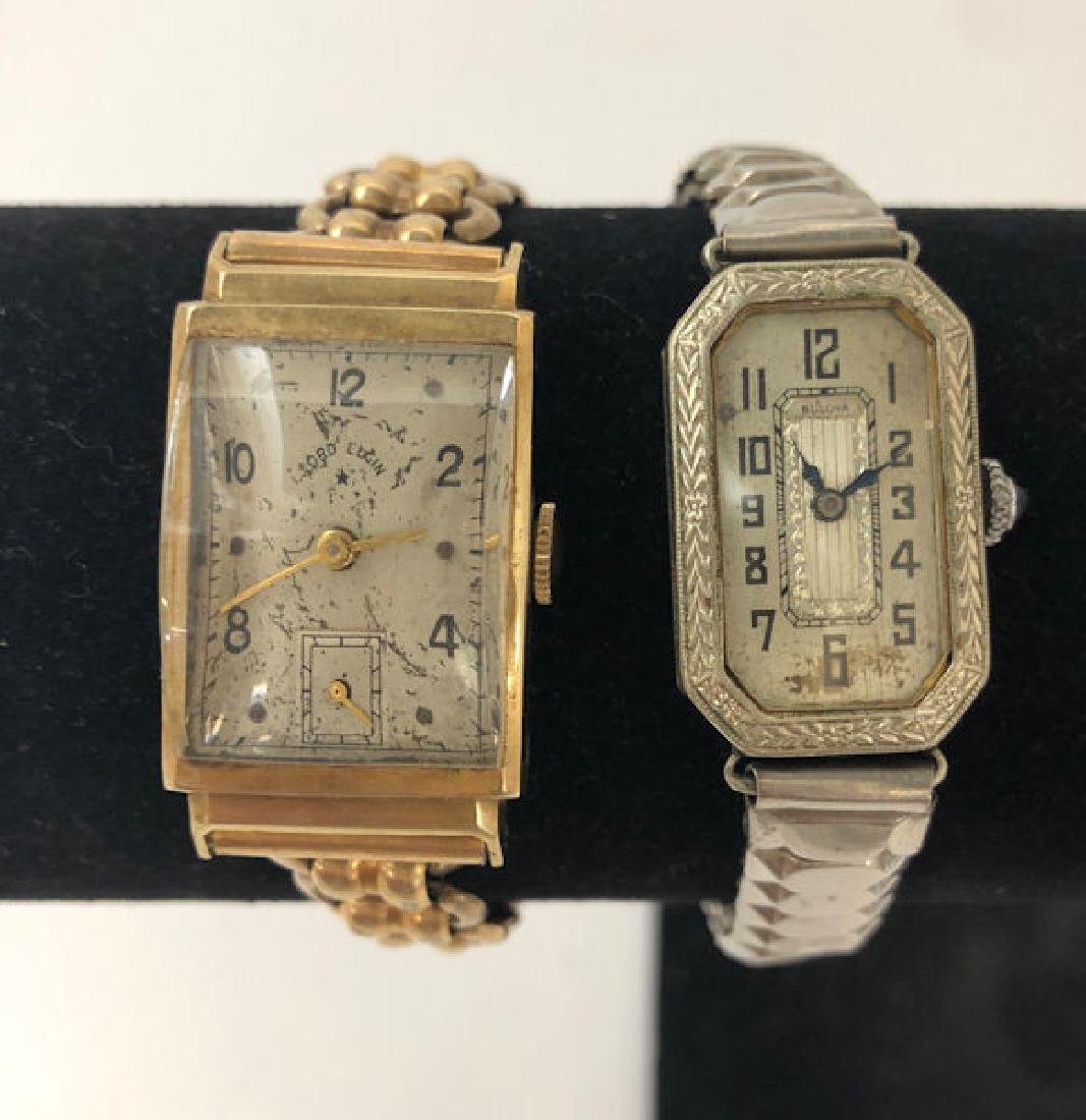 TWO GOLD WATCHES ~ LORD ELGIN WRIST WATCH W/14KT GOLD