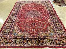 ORIENTAL RUG SEMI ANTIQUE PERSIAN ISPHEHAN 81 X