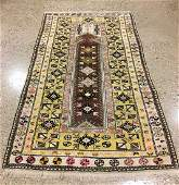 ORIENTAL RUG SEMI ANTIQUE TURKISH CAUCASIAN RUG, 4' X
