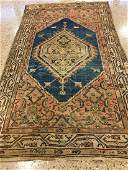 ORIENTAL RUG SEMI ANTIQUE PERSIAN ZANJAN 39 X 67