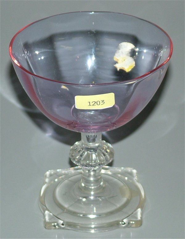 1203: HEISEY 3390 CARCASSONNE 6 OZ SAUCER CHAMPAGNE W/A