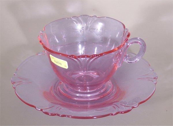 1204: HEISEY 1401 EMPRESS ALEXANDRITE CUP (FLAKE ON FOO