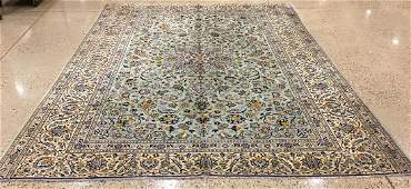 ORIENTAL RUG PERSIAN KASHAN CIRCA 1970 87 X 11