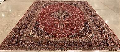 ORIENTAL RUG FINE PERSIAN KASHAN CIRCA 1970 10 X