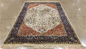 ORIENTAL RUG FINE INDO PERSIAN  TABRIZ 67 X 10