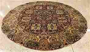 ORIENTAL RUG FINE INDO PERSIAN TABRIZ ROUND 9 X 9