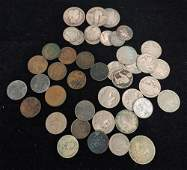MIXED LOT INCLUDING 2 BARBER AND 1 STANDING LIBERTY