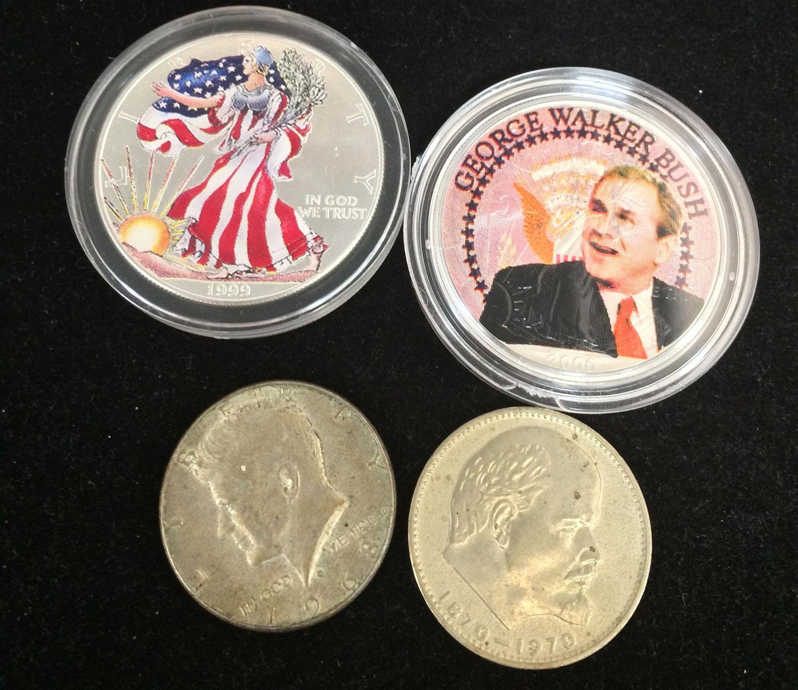 MIXED LOT INCLUDING 1999 AMERICAN SILVER EAGLE FULL