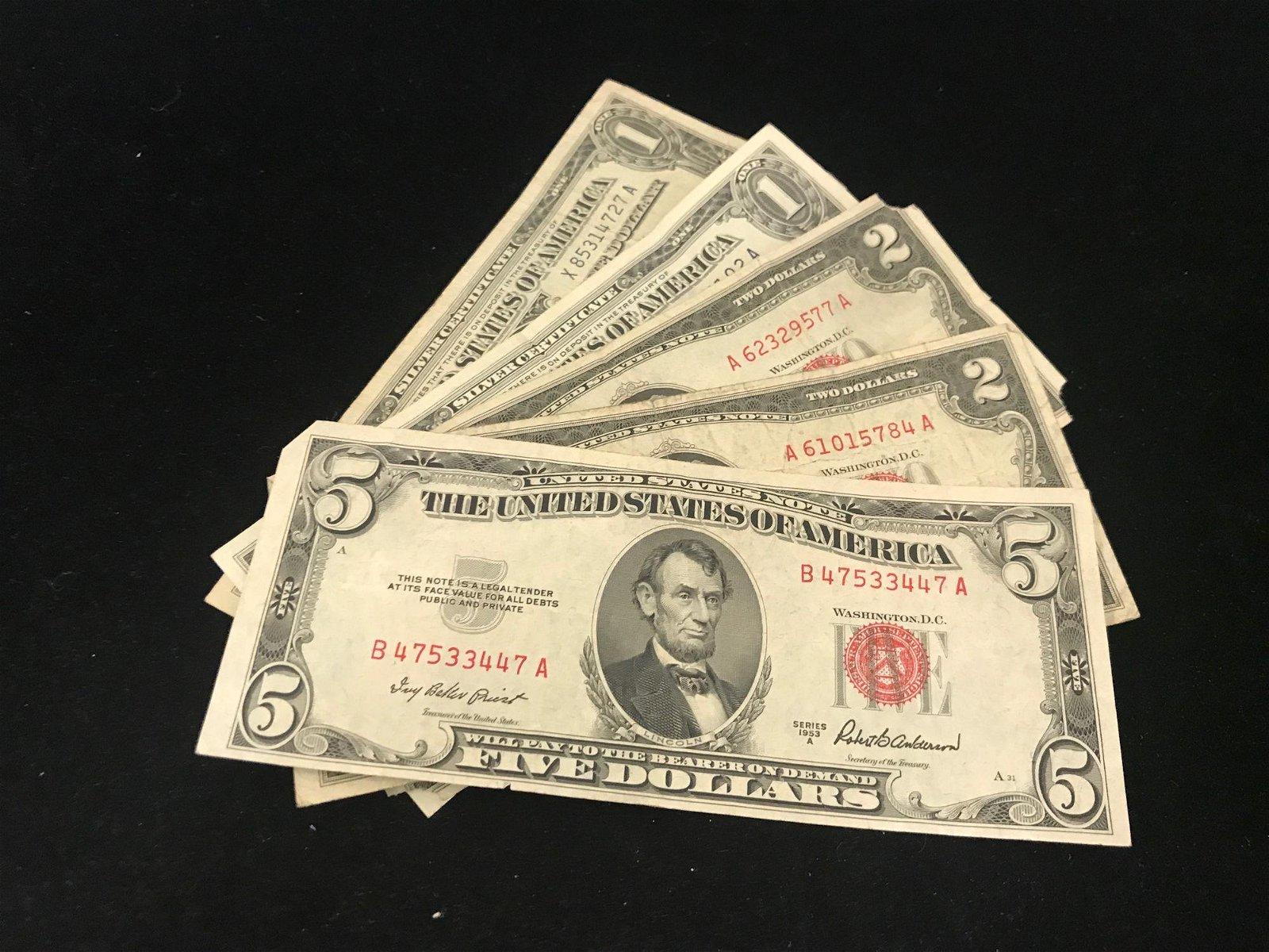 SERIES 1953 FIVE DOLLAR RED SEAL NOTE, 2 SERIES 1953